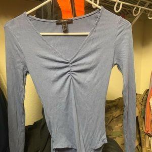 Forever 21 small blue bodysuit